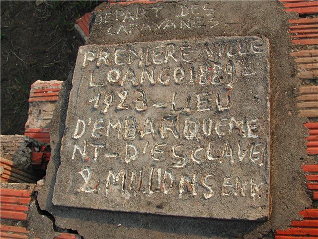 Stèle commémorative du Yovodah à Loango