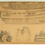 Schémas du Meermin, négrier de la VOC